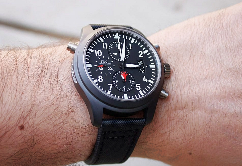 Replica IWC Pilot's Double Chronograph Edition TOP GUN Watch