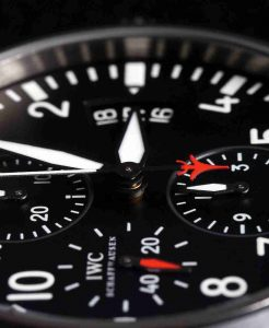Black Dial Replica IWC Pilot Chronograph Top Gun Ceramic 44mm Watch For New Year