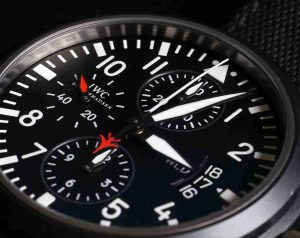 Black Dial Replica IWC Pilot Chronograph Top Gun Ceramic 44mm Watch For New Year