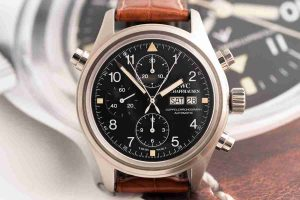 Stainless Steel Replica IWC Pilot Automatic Double Chronograph Watch Review