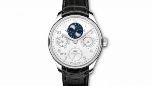 New For 2018 Summer IWC Portugieser Perpetual Calendar Silver Dial Platinum IW503406 Watch Replica