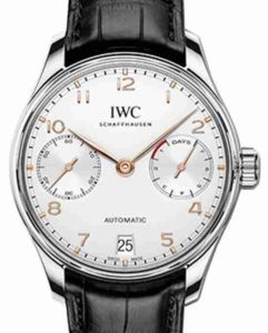 Classic Swiss IWC Portuguese Automatic Silver Plated Dial 42.3mm Replica Watch Review