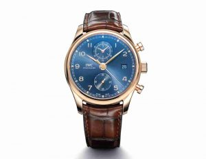 Stunning IWC Portugieser Chronograph Classic Bucherer Blue Dial Edition Red Gold 42mm Replica Watch Review