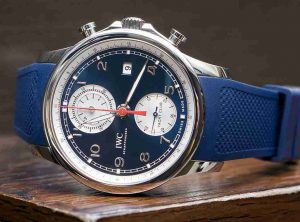 2018 Latest Update Classic IWC Portugieser Yacht Club Chronograph Blue And White Dial Replica Watch Introduce