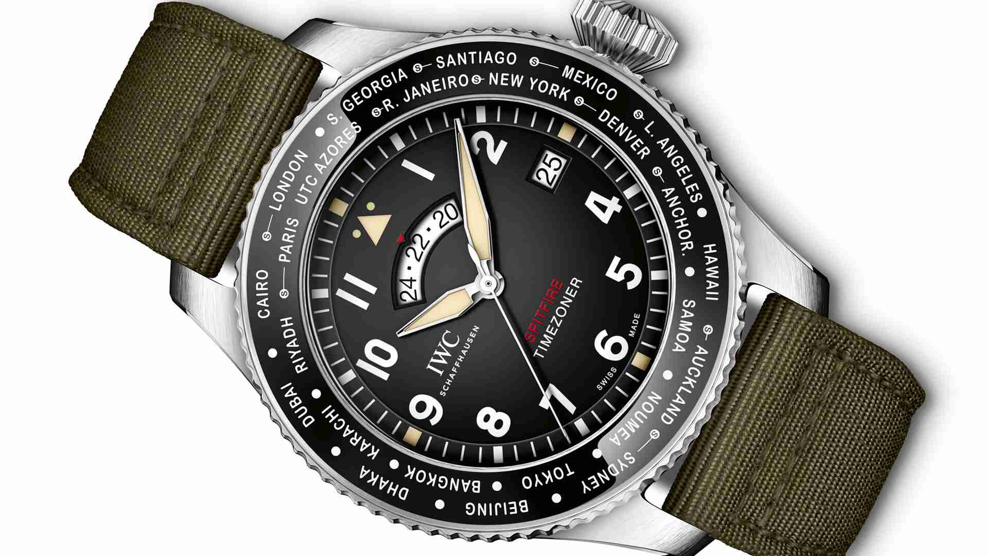 SIHH 2019 Best Swiss IWC Pilot's Watch Timezoner Spitfire Edition The Longest Flight Replica Watches