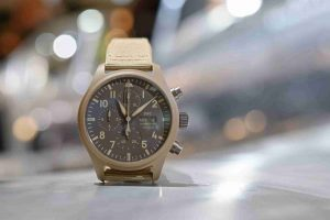 The Mojave Desert IWC Pilot's Chronograph TOP GUN Edition Brown Dial 44.5mm IW389103 Replica Watch For 2019 President's Day