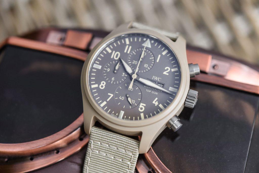 Swiss Replica IWC Pilot's Watch Top Gun Mojave Desert Special Edition Review