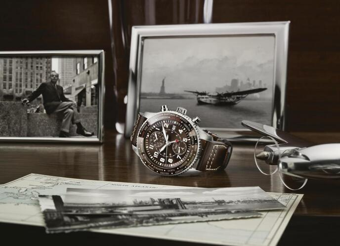 Replica IWC Pilot's Watch Timezoner Chronograph Edition 80 Years Flight to New York Review