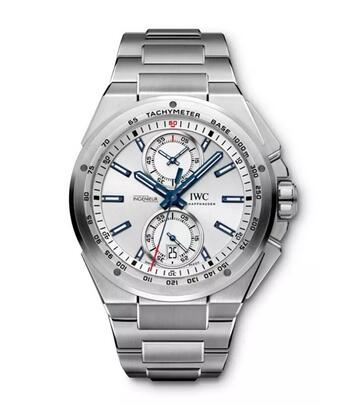 Replica IWC Ingenieur Chronograph Racer Silver Dial Rubber Strap IW378509 Watch Review 2