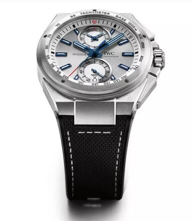 Replica IWC Ingenieur Chronograph Racer Silver Dial Rubber Strap IW378509 Watch Review 3