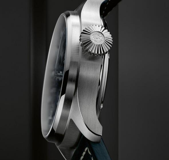 Replica IWC Big Pilot Perpetual Calendar Blue Dial Steel 46.2mm IW503605 Watch Review 1