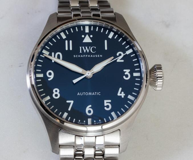 Replica IWC Big Pilot's Watch Automatic Blue Dial Steel 43mm IW329304 Review 2
