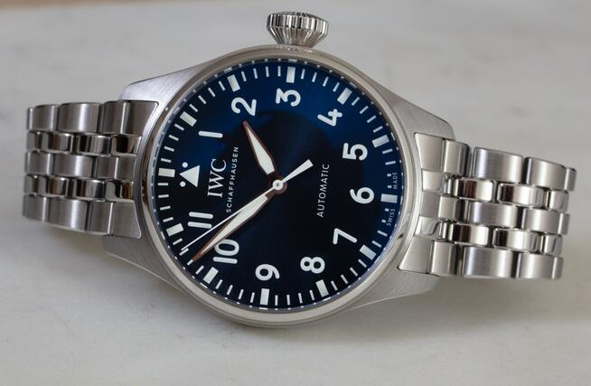 Replica IWC Big Pilot's Watch Automatic Blue Dial Steel 43mm IW329304 Review 3