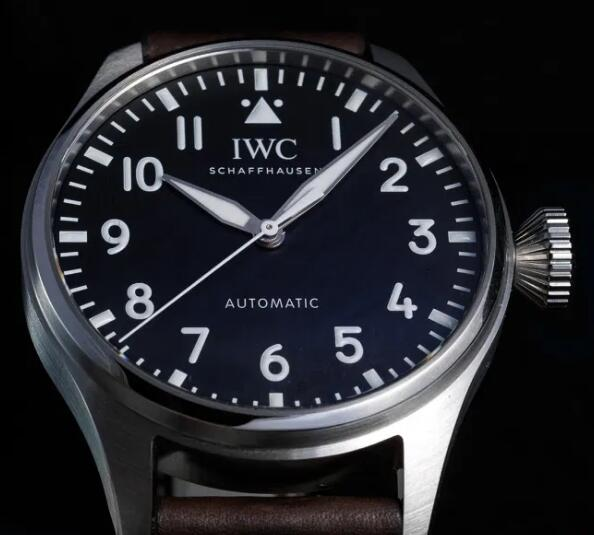 Replica IWC Big Pilot Black And Blue Dial Steel 43mm IW329301 Watch Guide 2