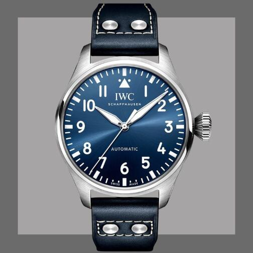 New Replica IWC Big Pilot Automatic Black And Blue Dial Steel 43mm Watches Guide 1