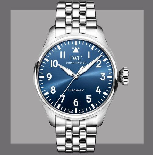 New Replica IWC Big Pilot Automatic Black And Blue Dial Steel 43mm Watches Guide 3