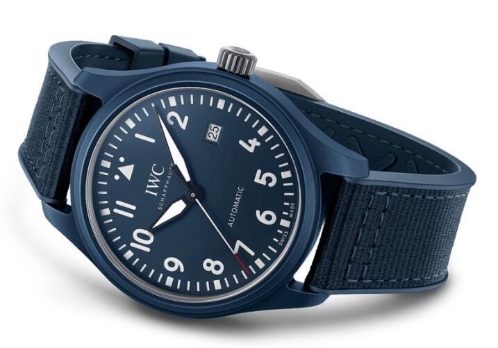 Replica IWC Pilot's Watch Automatic Blue Edition Laureus Sport for Good 41mm Review 1