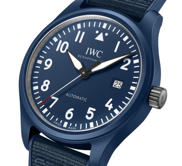 Replica IWC Pilot's Watch Automatic Blue Edition Laureus Sport for Good 41mm Review 2